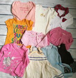 Платья , футболки 68-80 см сarters