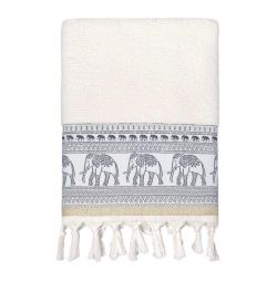 ARYA JACQUARD TOWEL WITH Fringe LUCK new