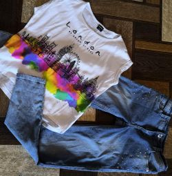 Ostin jeans and blouse r. 140