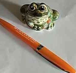 The frog is ceramic