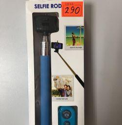 Bluetooth uzaktan kumandalı selfie için monopod