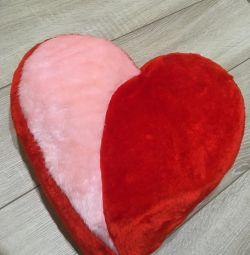Нова Подушка плюшева сердечко