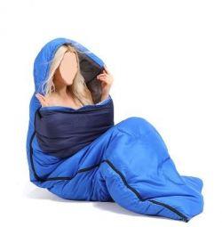 Tourist sleeping bag + synthetic winterizer blanket