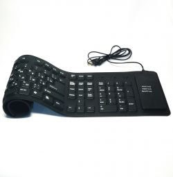 ? Flexible Keyboard USB 109 Cl, Silicone Eng / Rus