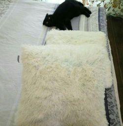 ? Pillow 50 * 50 + fluffy pillowcase