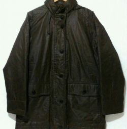 Jacket for men, elongated with hood