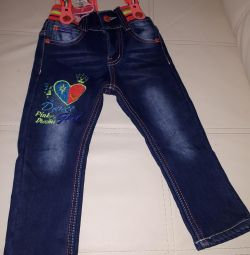Stylish jeans with suspenders92 size
