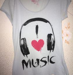 T-shirt I love music