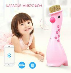 Çocuk Karaoke Mikrofon Bluetooth Hoparlör Yeni