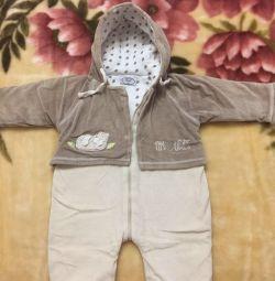 Plush overalls