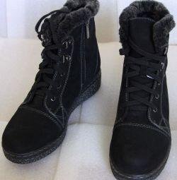 36 cizme de iarnă negru de catifea de catifea de Litfoot