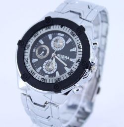 Wrist watch W061, steel