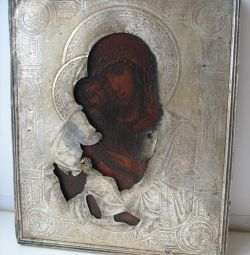 Icon of Vladimir the Mother of God Silver 84