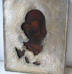 Икона Владимирская Божия матерь Серебро 84