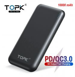 🔥 Topk Battery 10000 mAh 18W PD / QC 3.0 New