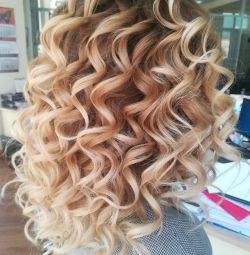 Makeup + curls