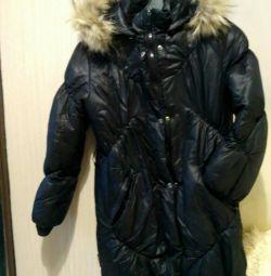 Palton de iarnă din jacheta din blană cu rachiu