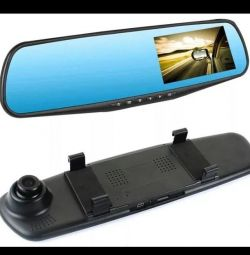 recorder mirror 2 cameras parking sensors