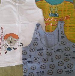 Tricouri pentru vara de 7-9 ani