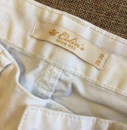 Jeans pentru femei. Alb 28-30r