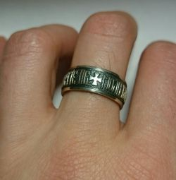 Ring from 925 silver with blackening