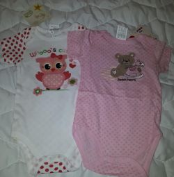 New bodys for baby 6-12 months (from Cyprus)