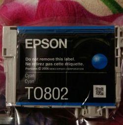 Новый катридж Epson синий