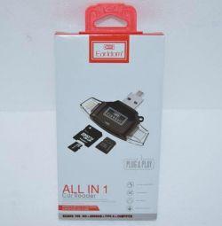 Νέα συσκευή ανάγνωσης καρτών MicroSD IPhone USB Earldom 006788
