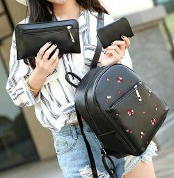 Рюкзак з ключницею і гаманцем