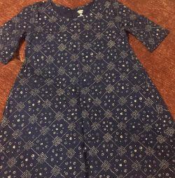 Rochie albastră de tunică