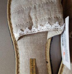 Домашняя обувь(тапочки) 38/39 размер.