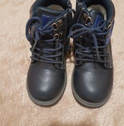 Boots on the boy fall winter