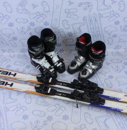 Alp disiplini Kayak kafası 163 + sabitleme + botlar