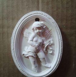 Înger de tencuială de perete
