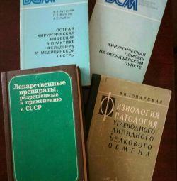 Medical books.