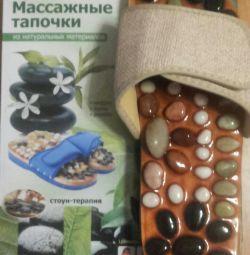 Papuci de masaj cu pietre