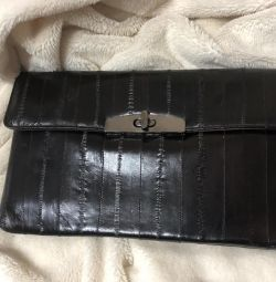 Eel Leather Clutch