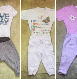 A package of things for a girl (flipping) 2-4 years