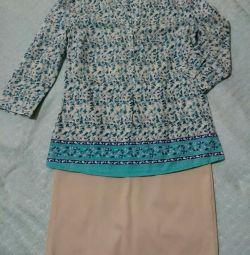 Блузка Zolla и юбка Oodji новая.