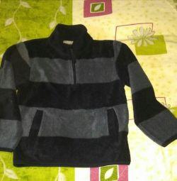Bluza fleece p.110, are buzunare, mare gât