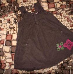 Velveteen dress for 3-4g