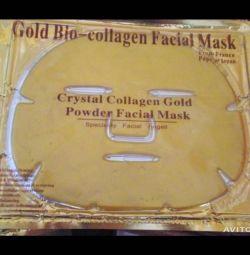 Yüz için maske Altın Altın Kollajen.
