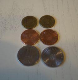 Набор монет Румынии 2005-2016 гг - 4 монеты