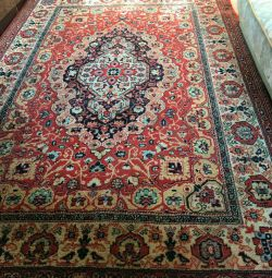 Woolen carpet.