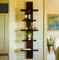 Rafturi de perete din lemn