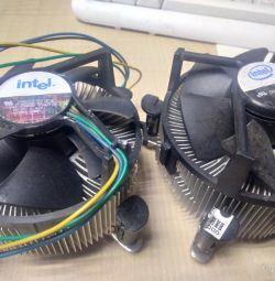 радіатор для охолодження з кулером б / у, робочий.