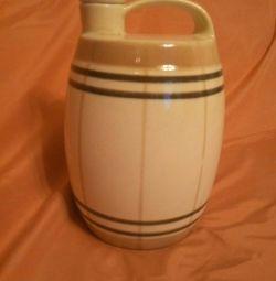 Ceramic jug-keg. CSF Kirov faience