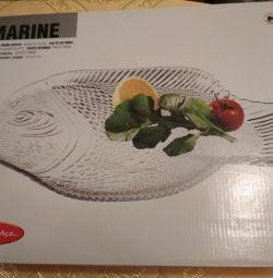 Блюдо під рибу, велику