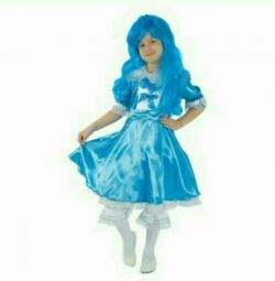 Carnival costume with a Malvina wig 110-116 cm