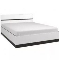 Vegas yatağı 1.6 (Wenge / White gloss)